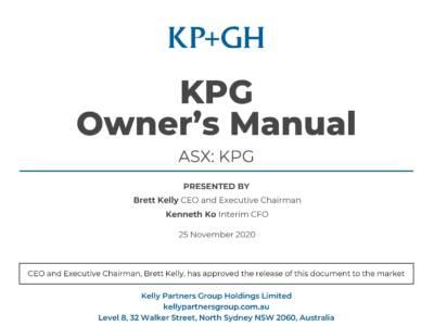 KPG Owners Manual
